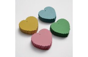 COLOURED TAG LABELS HEART